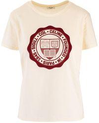 Céline Beige Cotton T-shirt - Natural