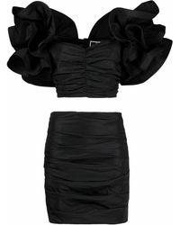 Elisabetta Franchi Women's Tg00311e2110 Black Polyester Dress