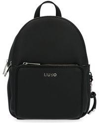 Liu Jo Black Polyurethane Backpack