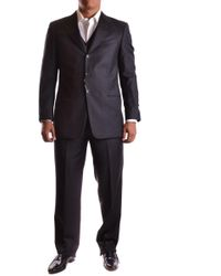 Armani Men's Mcbi024039o Grey Wool Suit - Gray