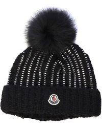 Moncler Black Wool Hat