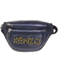 KENZO Blue Leather Belt Bag