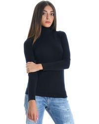 Alpha Studio Black Viscose Sweater