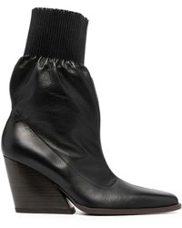 KENZO Stiefel mit Blockabsatz - Schwarz