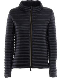Save The Duck Quilted Fabric Puffer Jacket - Black