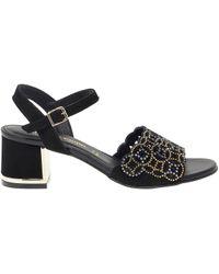 Pasquini Calzature - Black Suede Sandals - Lyst