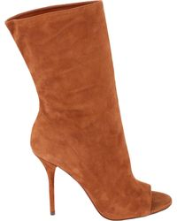 Aquazzura - Brown Suede Ankle Boots - Lyst