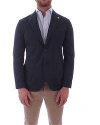 Gran Sasso 9579612837 Wool Blazer - Blue