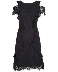 Pinko - Black Viscose Dress - Lyst
