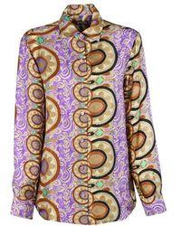 Maliparmi Malìparmi Silk Shirt - Purple
