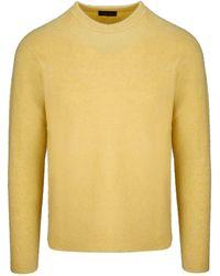 Roberto Collina Yellow Cashmere Sweater