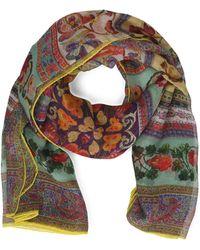 Etro Multicolour Silk Scarf