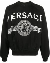 Versace Sweatshirt mit Medusa - Schwarz