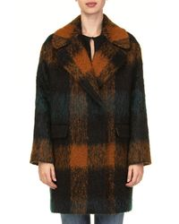Tagliatore Orange Wool Coat