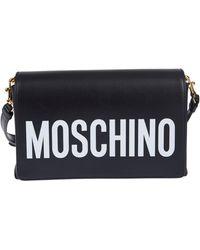 Moschino Umhängetasche mit Logo - Schwarz