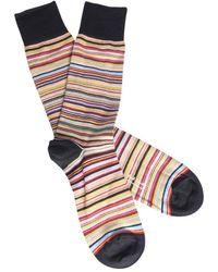 Paul Smith Herren Narrow Signature Stripe Socken - Mehrfarbig