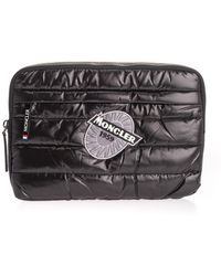 Moncler Black Polyamide Document Holder