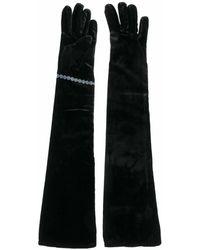 Maison Margiela Velvet Gloves - Black