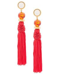 Lizzie Fortunato | Red Jumbo Tassel Earrings | Lyst