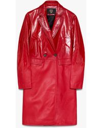 MCM 1976 Leather Coat - Red