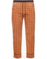 MCM Classic Logo Silk Pyjama Trousers - Multicolour