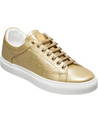 MCM - Men's Low Top Trainers In Monogrammed Leather - Lyst