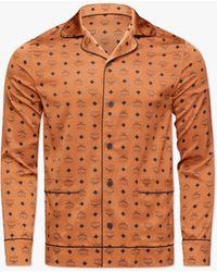 MCM Classic Logo Silk Pyjama Shirt - Brown