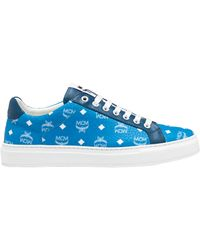 MCM - Low Top Trainers In White Logo Visetos - Lyst