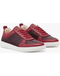 MCM Sustainable Terrain Lo Trainers In Monogram Leather - Red