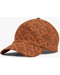 MCM Monogram Cotton Cap - Brown