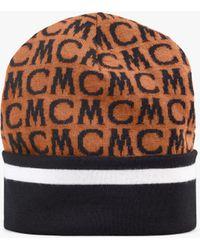 MCM Monogram Wool Beanie - Brown