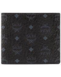 MCM Small Visetos Original Flap Bi-fold Wallet - Black