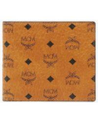 MCM Small Visetos Original Flap Bi-fold Wallet - Brown