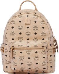 MCM - Mini Stark Studded Coated Canvas Backpack - Lyst