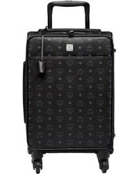 MCM Traveler Cabin Trolley In Visetos - Black
