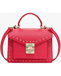 MCM - Patricia Satchel In Studded Park Ave Leather - Lyst