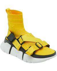 MCM Himmel Sock Sneakers - Yellow