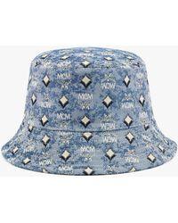 MCM Bucket Hat In Vintage Jacquard Monogram - Blue