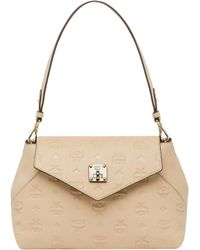 MCM - Essential Crossbody In Monogram Leather - Lyst