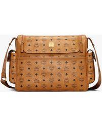 MCM Klassik Diaper Bag In Visetos - Brown