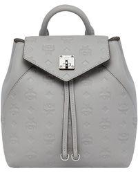 MCM - Essential Backpack In Monogram Leather - Lyst