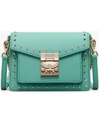 MCM - Patricia Crossbody In Studded Park Avenue Leather - Lyst