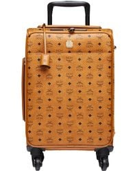 MCM Traveler Cabin Trolley In Visetos - Multicolor