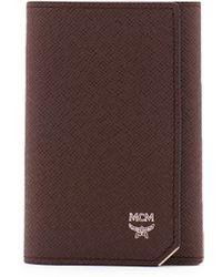 MCM New Bric Key Wallet - Brown
