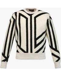 MCM Cubic Monogram Wool Sweatshirt - Multicolour