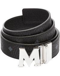 MCM Claus M Reversible Belt 3.8 Cm In Visetos - Black