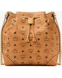MCM Drawstring Shoulder Bag - Brown
