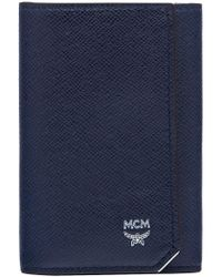 MCM - New Bric Keycase In Embossed Leather - Lyst