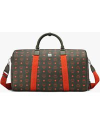 MCM Traveler Weekender Bag In Visetos - Multicolor