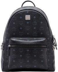 MCM Stark Side Studs Backpack In Visetos - Black